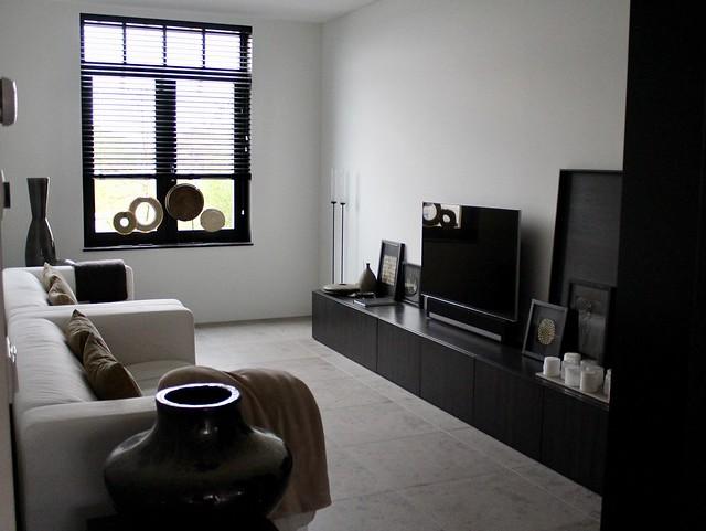 Binnenkijken overwegend zwart interieur