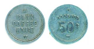 Bank Coffee House 50c token