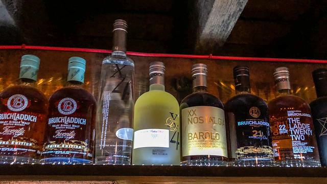 Whisky in the gantry @ Bruichladdich Distillery