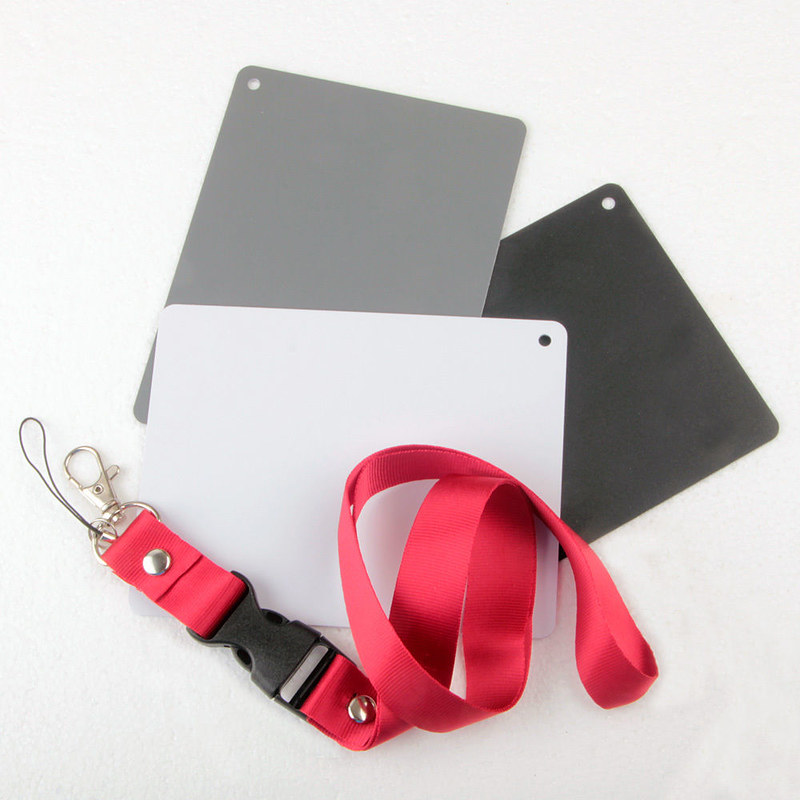 Gray Card - Thẻ cân bằng trắng 3in1 có dây đeo cổ