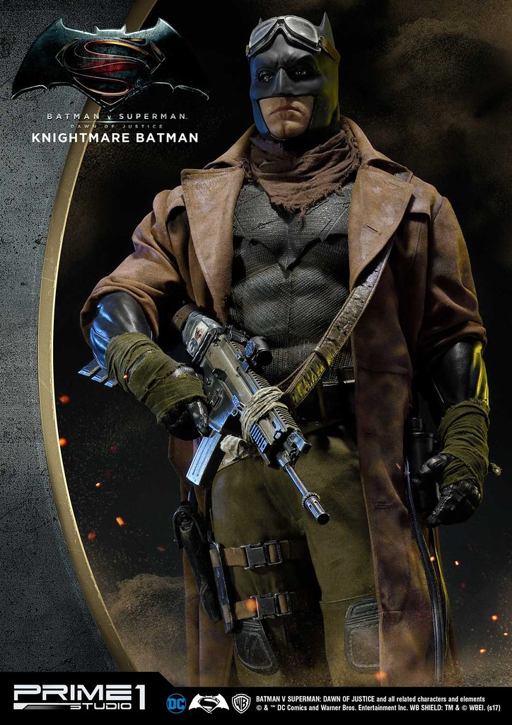 Prime 1 Studio《蝙蝠俠對超人:正義曙光》噩夢蝙蝠俠 Nightmare Batman ナイトメアバットマン HDMMDC-07 1/2 比例全身雕像作品