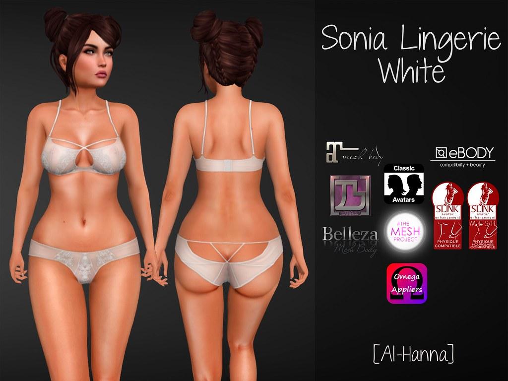 [Al-Hanna] Sonia Lingerie White - TeleportHub.com Live!
