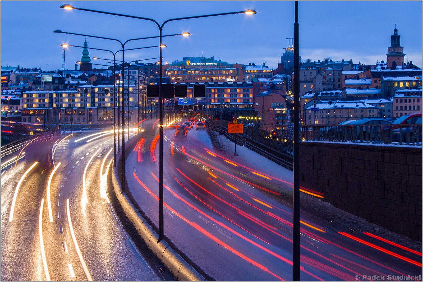 Ulice Sztokholmu nocą