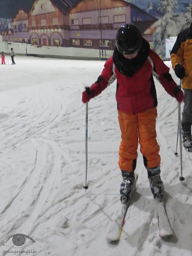 Das erste Mal auf Skiern