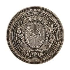 1907 Argentina Santa Fe Province Medal reverse