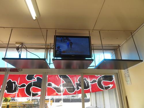 金沢競馬場の千鳥のテレビ画面