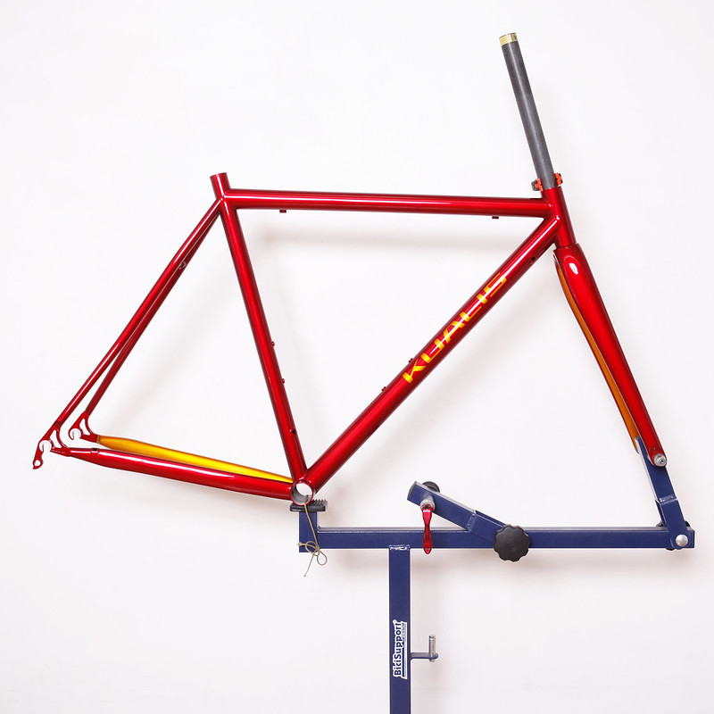 Kualiscycles Steel Road Frame Painted by Swamp Things.