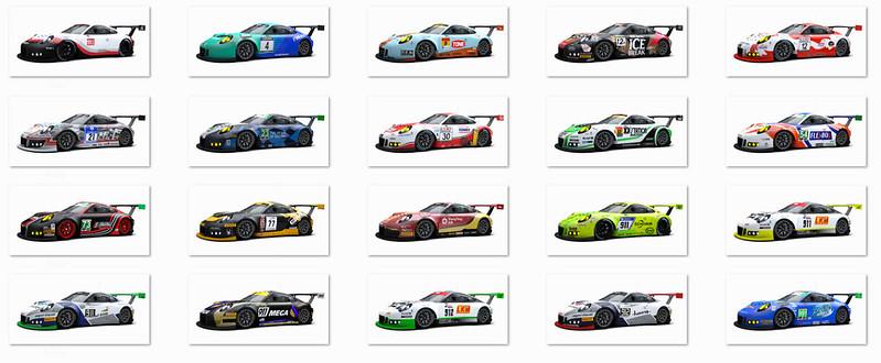 RaceRoom Porsche 911 GT3 R Livery Pack