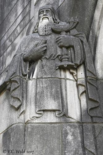 A scholar, Rockefeller Memorial Chapel