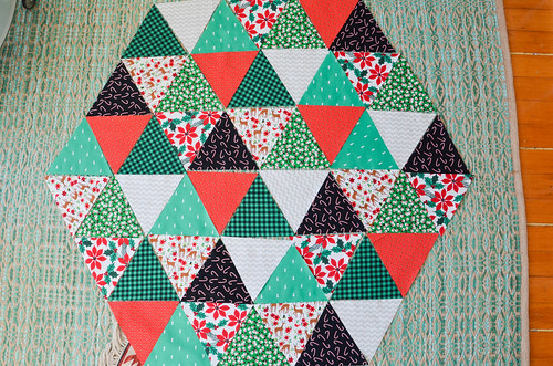 Completed cut equilateral triangles