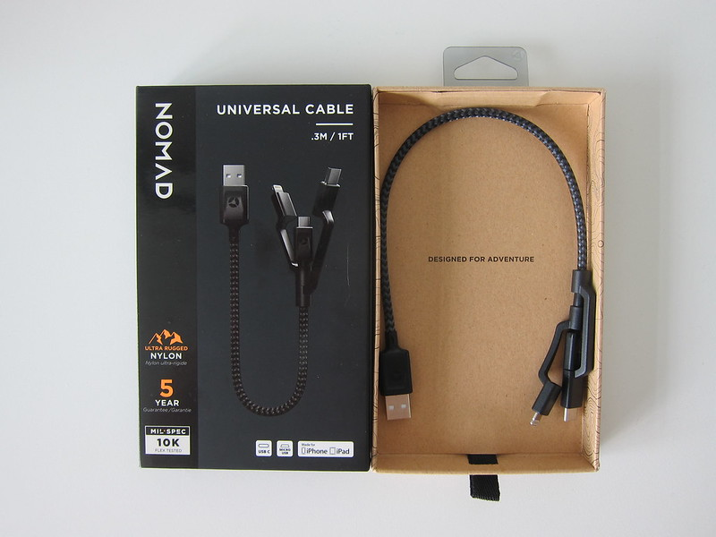 Nomad Universal Cable (0.3m) - Box Open