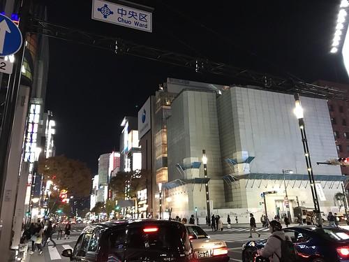 銀座らへん。雰囲気に魅了された。その後東京駅で山下さんと合流し神田のネカフェに泊まった