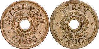 Three Pence Australian WWII Internment Camp token