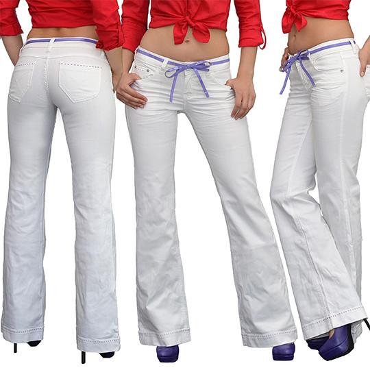 SALE Damen Jeans Bootcut Jeans Hose Jeanshose Hüftjeans Damenjeans J153