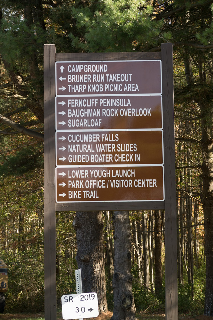 Signs at Ohipyle State Park