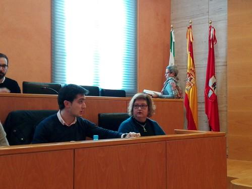 La portavoz del PP Mª Carmen Espada en el pleno