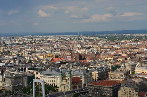 Panorama von Pest von der Anhöhe gesehen