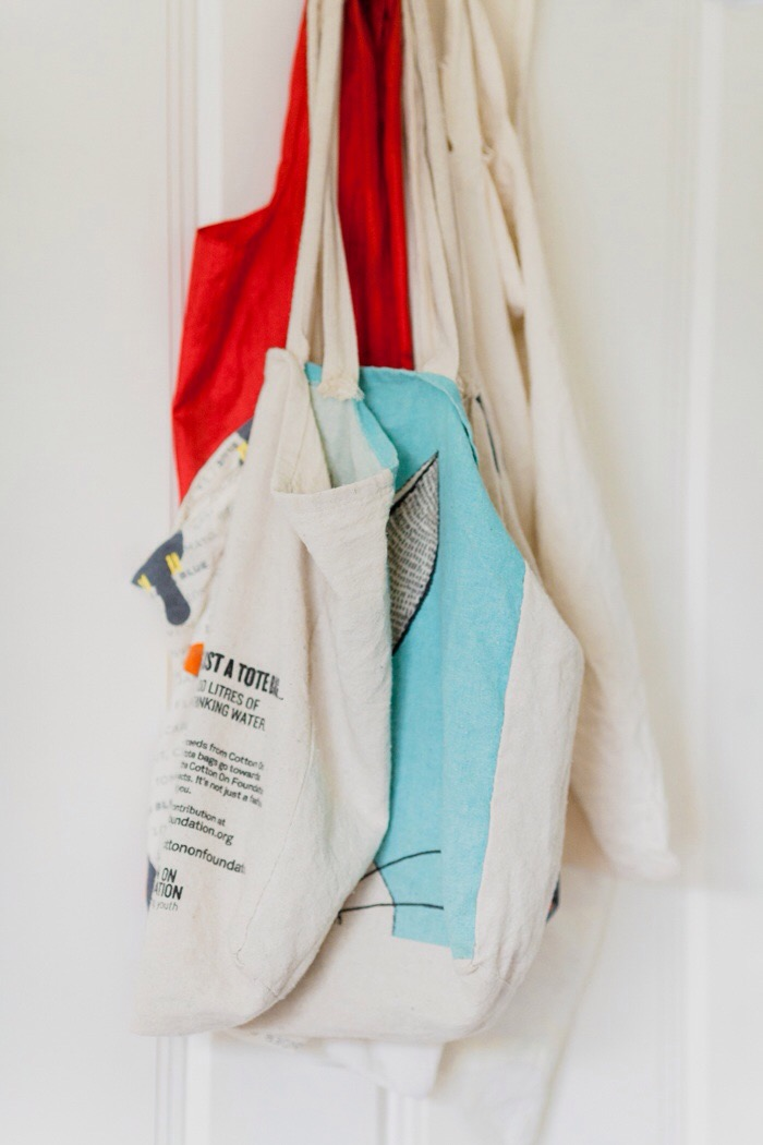 office tour - reusable totes