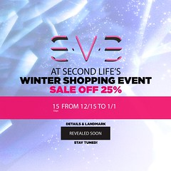 E.V.E at Second Life's Winter Shopping Event