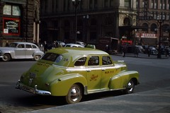 Farwest cab in Pioneer Square, 1947