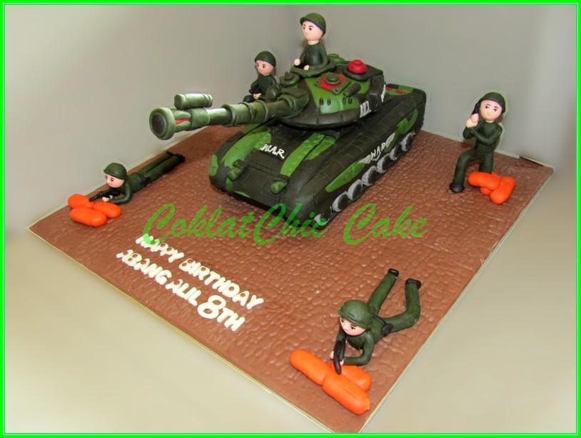 Cake ARMY Tank ABANG ALIL 15cm