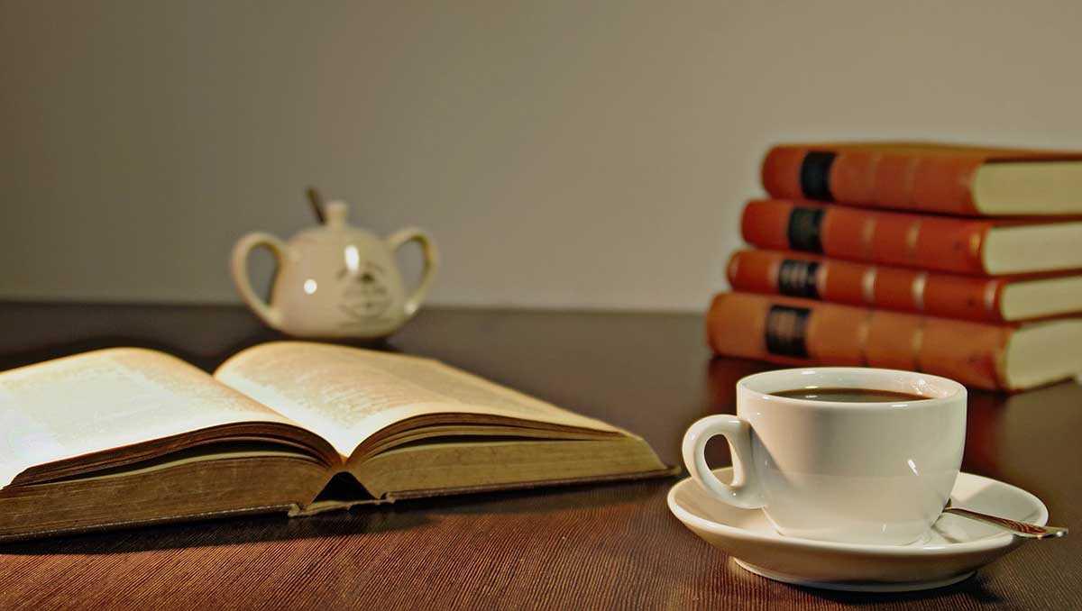 القهوة والقراءة
