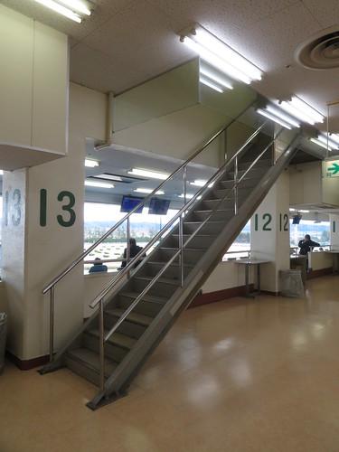 金沢競馬場の3階にある謎の階段