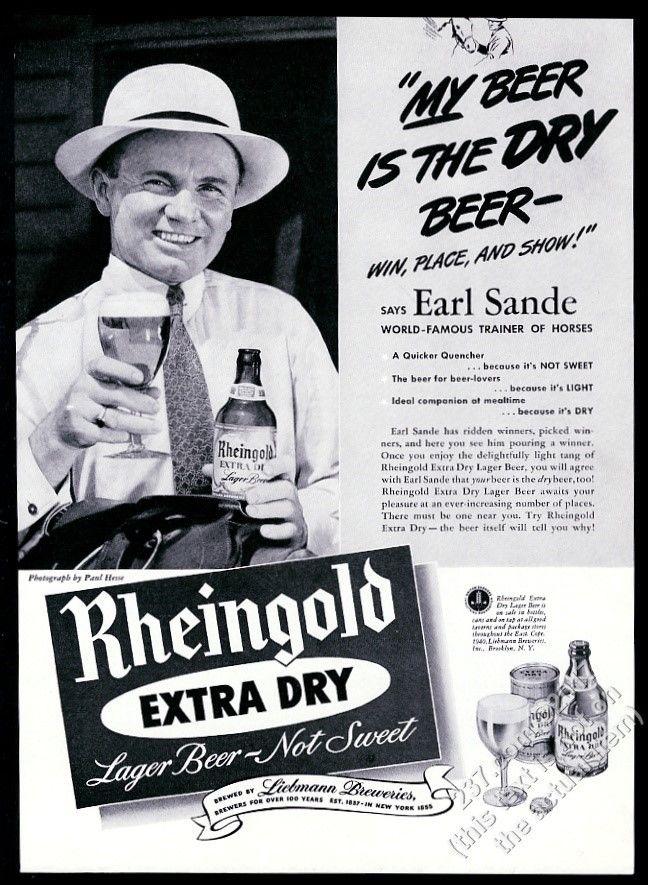 1941-Rheingold-Beer-race-horse-trainer-Earl-Sande
