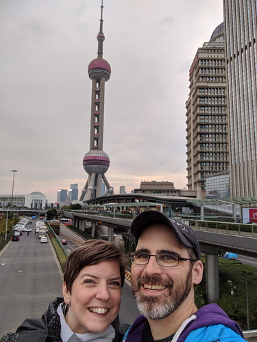 selfie w/ the Oriental Pearl TV Tower