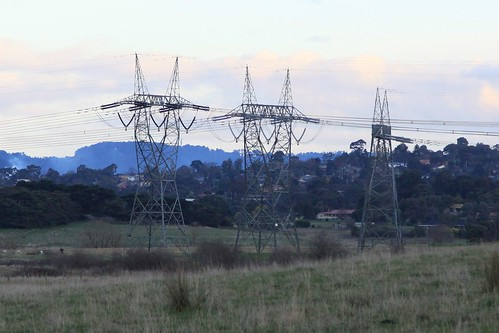 Dead end transmission line at Coldstream, Victoria
