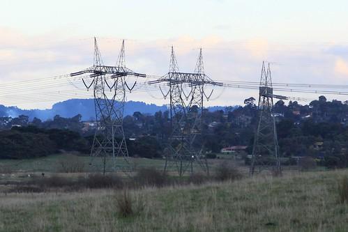 Dead end transmission line at Coldstream, Victoria