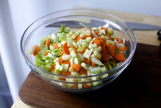 leeks and carrots and celery