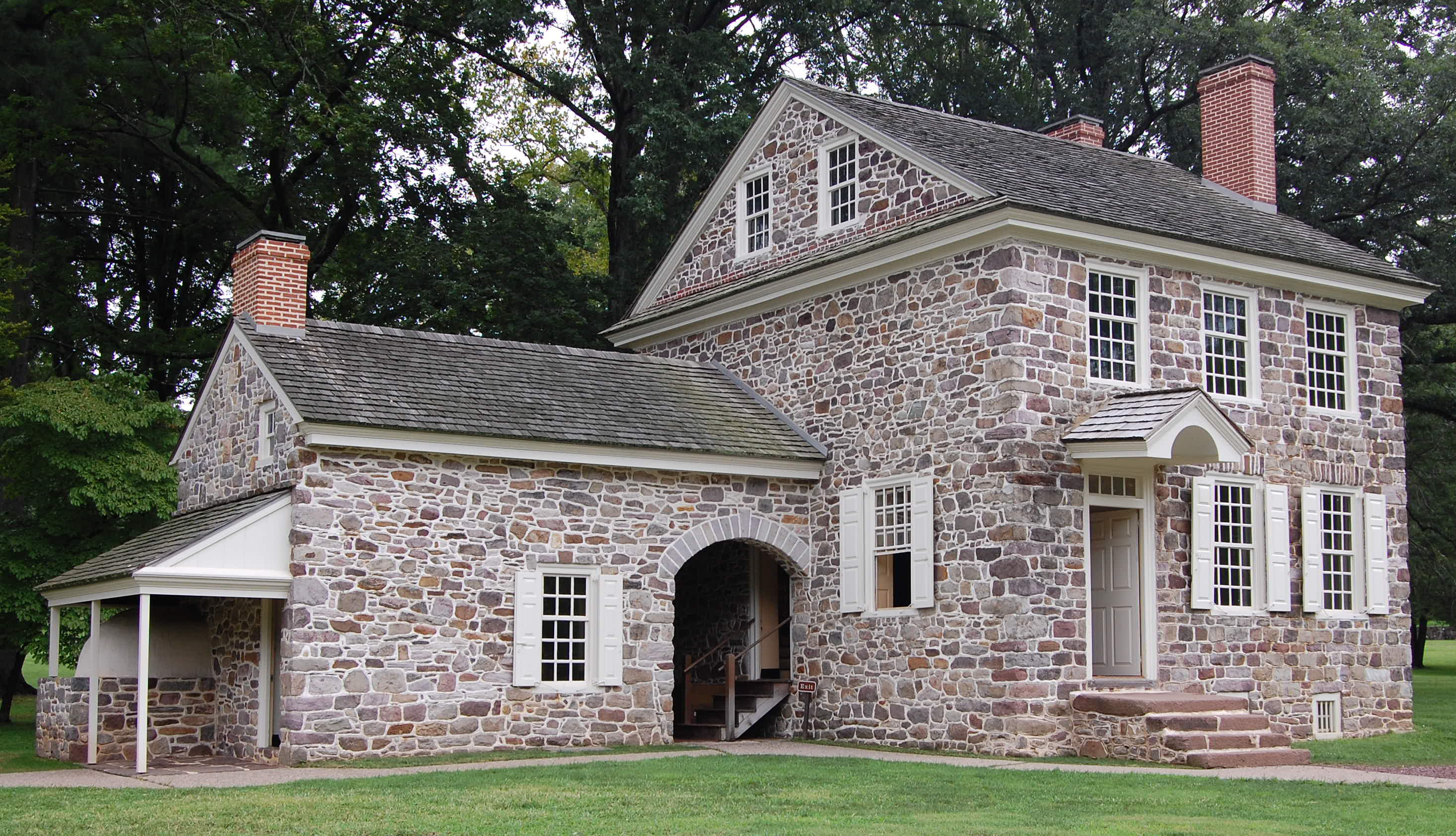 Washington made his headquarters in the Isaac Potts House at Valley Forge. Photo taken on August 22, 2009.