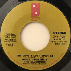 HAROLD MELVIN & THE BLUENOTES:THE LOVE I LOST(LABEL SIDE-A)