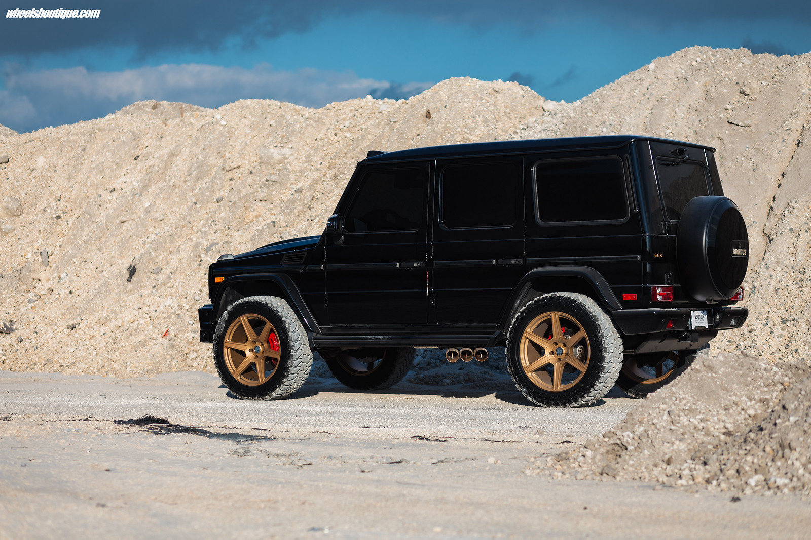 the brabus brawler another lifted mercedes g63 by teamwb. Black Bedroom Furniture Sets. Home Design Ideas