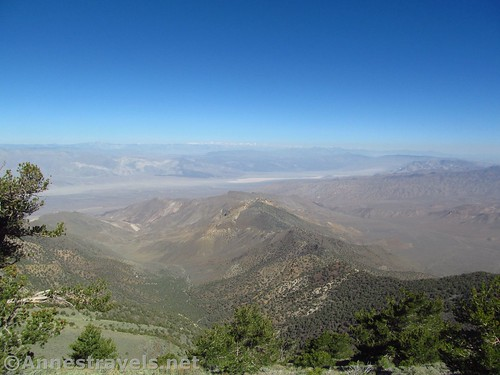 Views into China Lake from Rogers Peak in Death Valley National Park, California