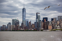 New York - Vue sur Manhattan depuis le ferry de Liberty Island