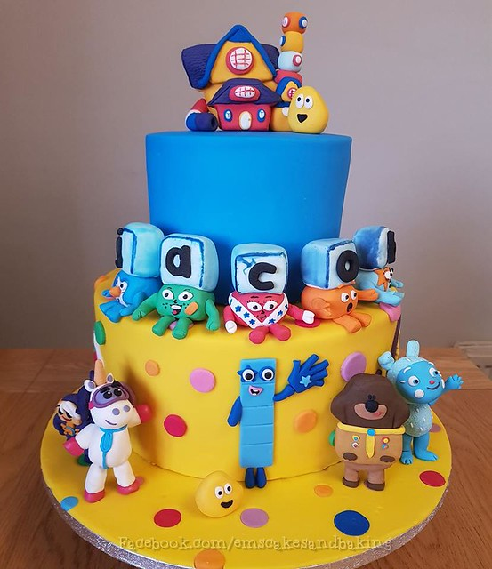 Cbeebies Cake I made for my little boy Jacob's 5th birthday by Emma Powell