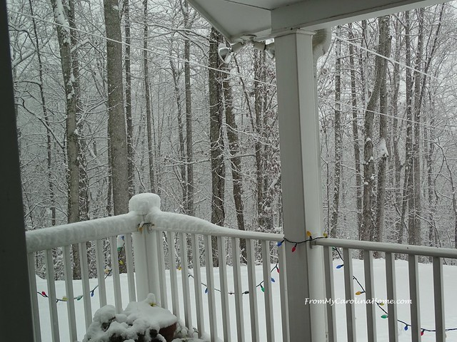 December Snow ~ From My Carolina Home