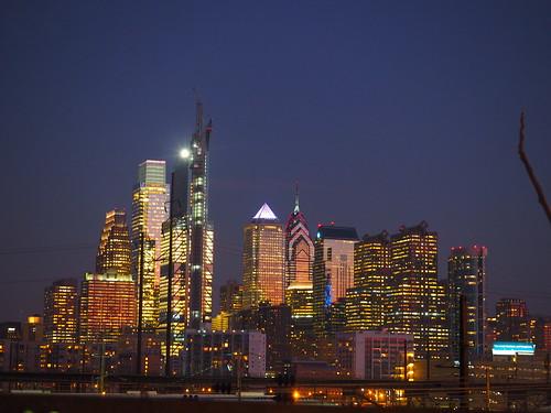 #philly at #night   #philadelphia  #city #skyline