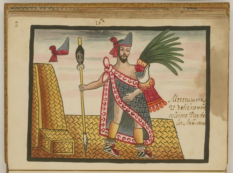 Moctezuma II, an Aztec prince, from The Tovar Codex