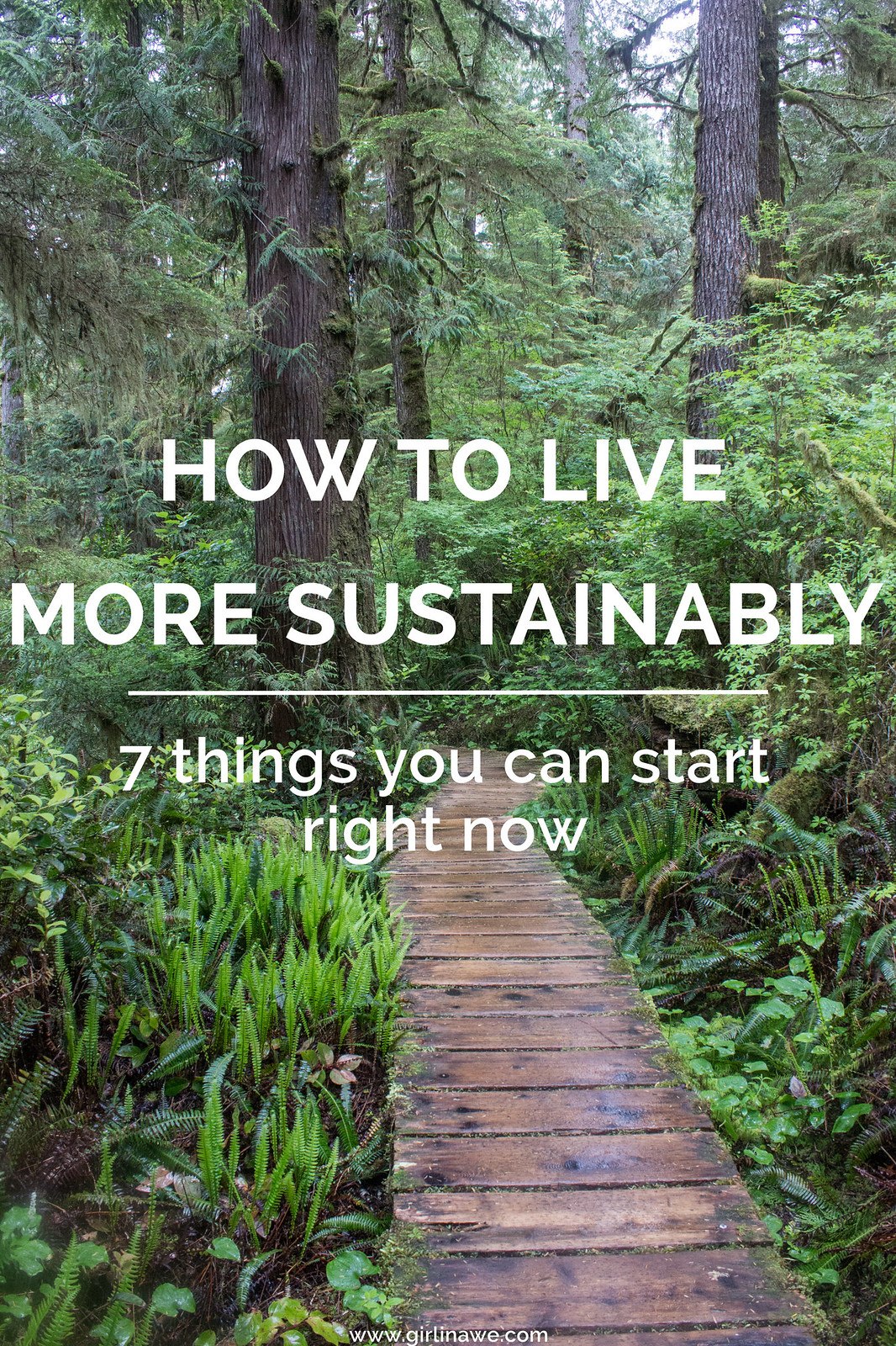 7 tips for sustainable living; how to start living more sustainably