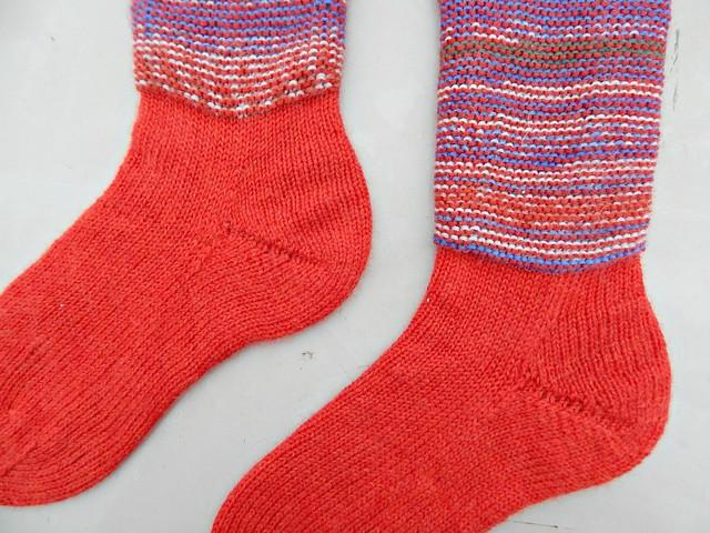 носки с пяткой углублённым бумерангом с клином | short row heel with gusset socks 3