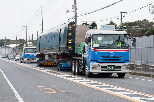 英国向け IEP Class800 高速鉄道車両 昼間陸送