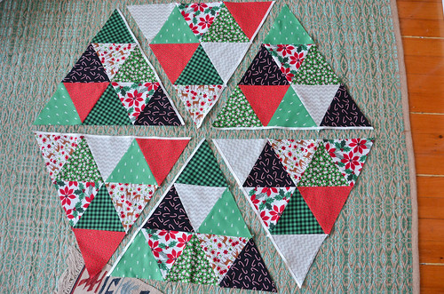 Continue sewing flange strips to all quilt blocks as needed. Trim ends.