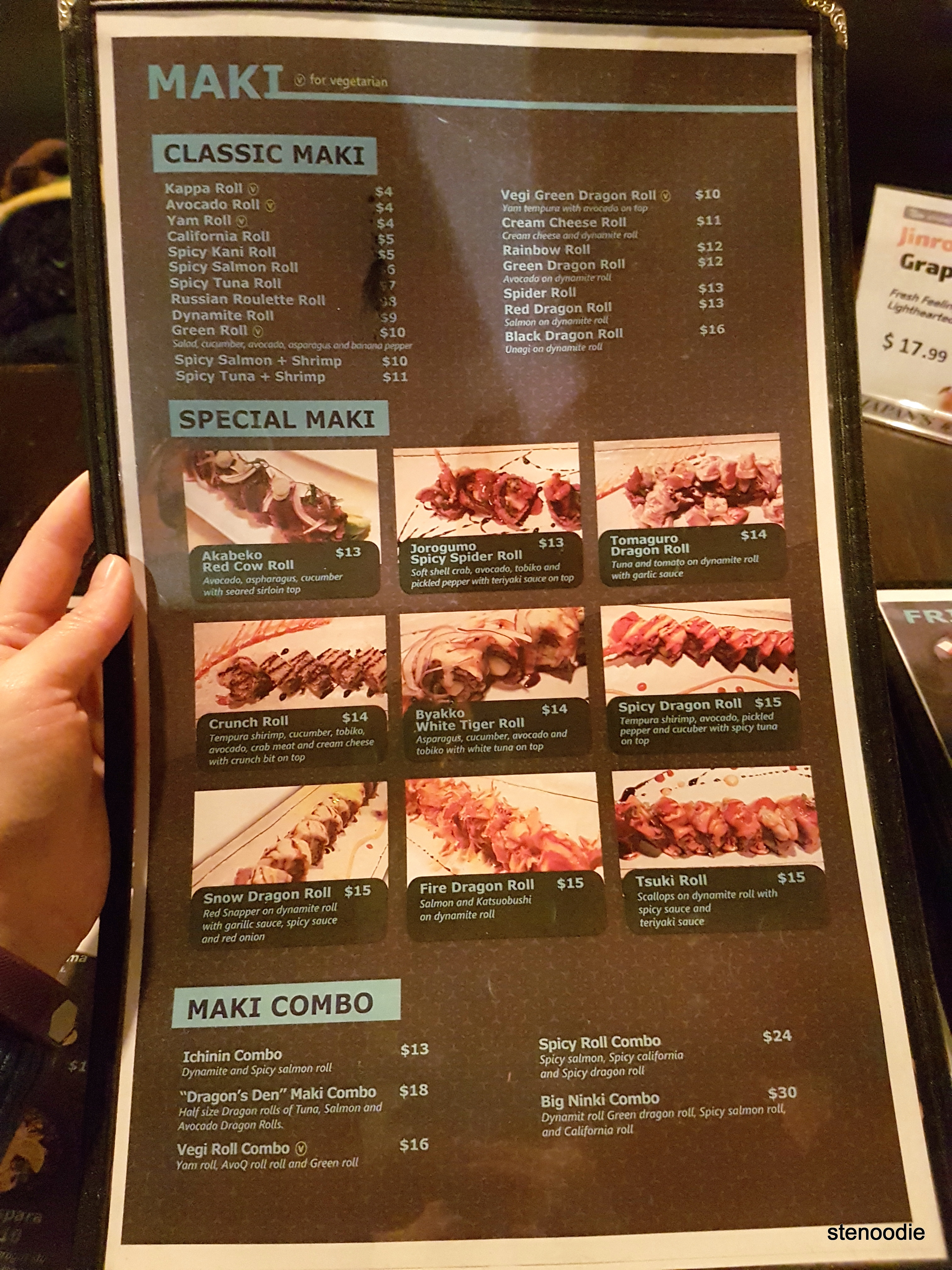 Tsuki Izakaya menu and prices