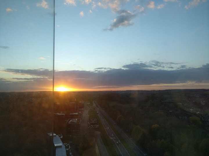 @work view sunset