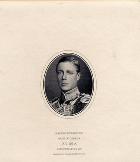 Canada Edward VIII proof vignette