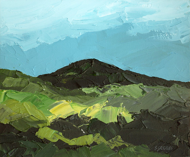 Snowdonia Welsh Mountains - Landscape Painting by Steve Greaves