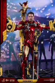 開始「卸裝」啦~!Hot Toys - MMS462D22 - 《鋼鐵人2》鋼鐵人馬克4 & 著裝整備台 Iron Man 2 Mark IV Mark IV with Suit-Up Gantry 1/6 比例合金人偶套裝組